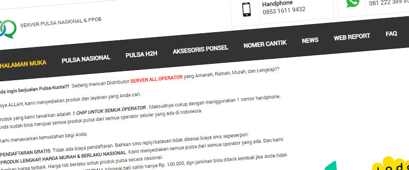 Jasa Pembuatan Website Bandung Murah andisbirru.com Jasa pembuatan website murah Bandung Katalog Produk andisbirru.com