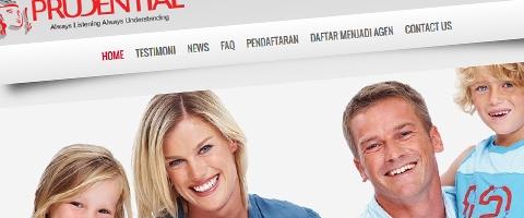 Jasa Pembuatan Website Bandung Murah  Jasa pembuatan website murah Bandung Company Profile Agen Asuransi Prudential