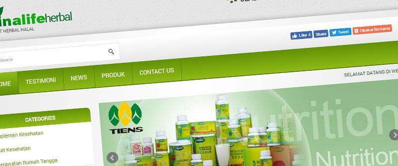 Jasa Pembuatan Website Bandung Murah  Jasa pembuatan website murah Bandung Company Profile Ainalife Herbal