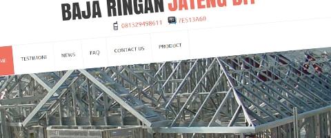 Jasa Pembuatan Website Bandung Murah  Jasa pembuatan website murah Bandung Company Profile Baja Ringan Jateng DIY