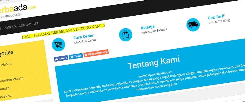 Jasa Pembuatan Website Bandung Murah  Jasa pembuatan website murah Bandung Company Profile Baju Serbaada