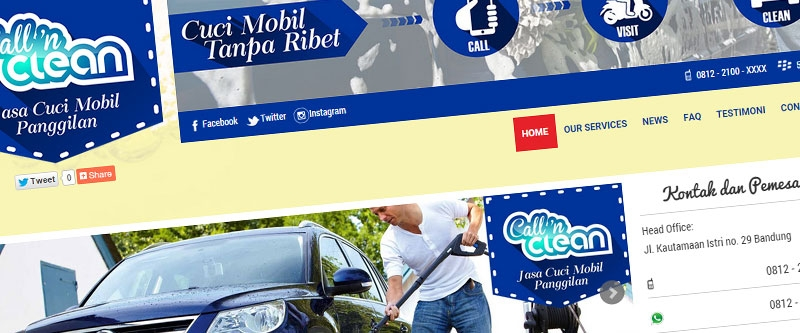 Jasa Pembuatan Website Bandung Murah  Jasa pembuatan website murah Bandung Company Profile Cuci mobil bandung