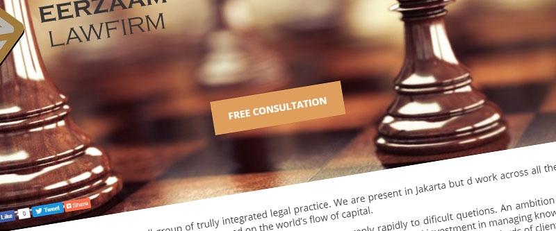 Jasa Pembuatan Website Bandung Murah  Jasa pembuatan website murah Bandung Company Profile Eerzaam Law