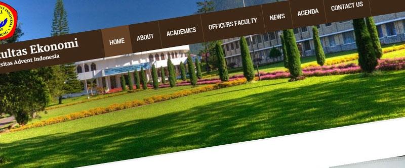 Jasa Pembuatan Website Bandung Murah  Jasa pembuatan website murah Bandung Company Profile Fakultas Ekonomi UNAI