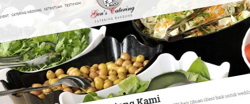 Jasa Pembuatan Website Bandung Murah  Jasa pembuatan website murah Bandung Company Profile Gens Catering