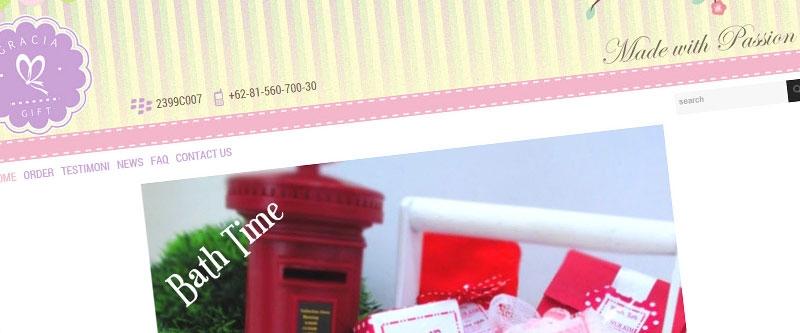 Jasa Pembuatan Website Bandung Murah  Jasa pembuatan website murah Bandung Company Profile Gracia Gift