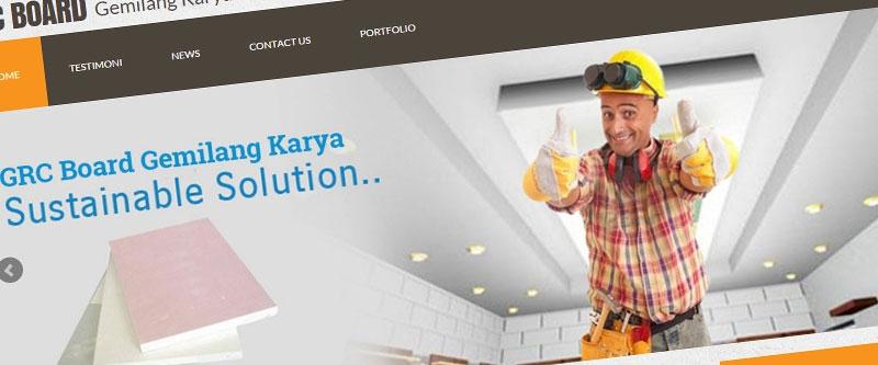 Jasa Pembuatan Website Bandung Murah  Jasa pembuatan website murah Bandung Company Profile GRC Board Gemilang Karya
