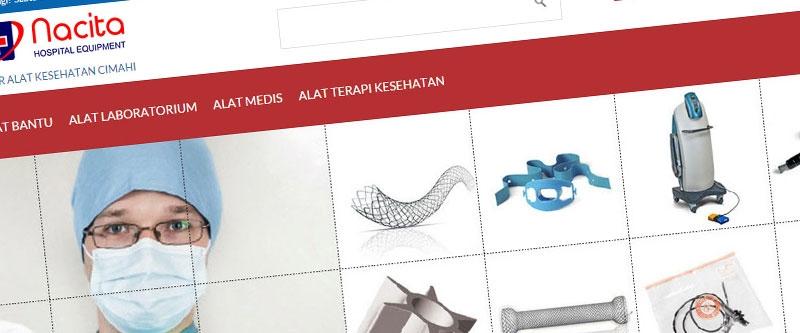 Jasa Pembuatan Website Bandung Murah  Jasa pembuatan website murah Bandung Company Profile Grosir Alat Kesehatan Cimahi
