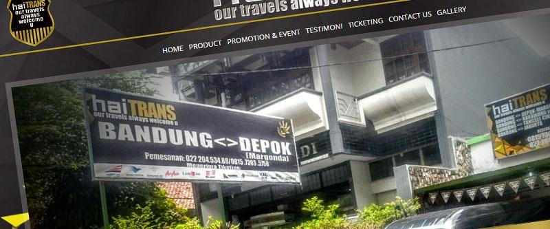 Jasa Pembuatan Website Bandung Murah  Jasa pembuatan website murah Bandung Company Profile Haitrans