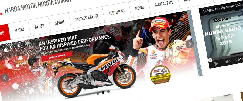 Jasa Pembuatan Website Bandung Murah  Jasa pembuatan website murah Bandung Company Profile Harga motor honda murah