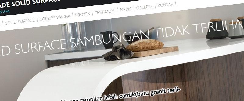 Jasa Pembuatan Website Bandung Murah  Jasa pembuatan website murah Bandung Company Profile Higrade Solid Surface