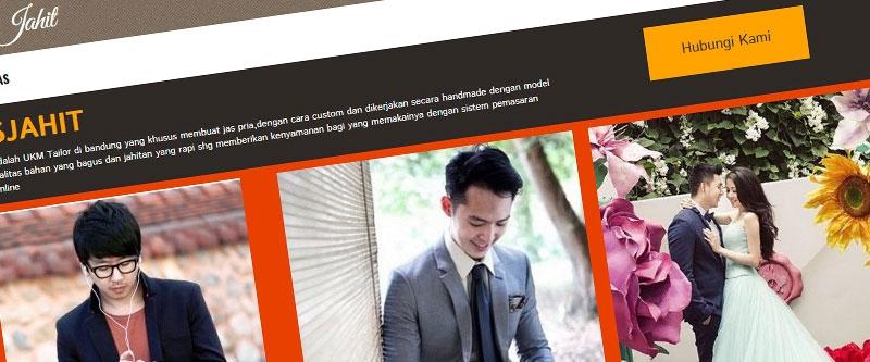 Jasa Pembuatan Website Bandung Murah  Jasa pembuatan website murah Bandung Company Profile Jas Jahit