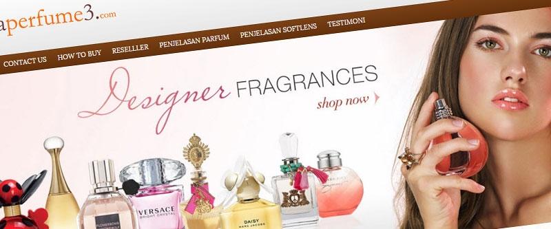 Jasa Pembuatan Website Bandung Murah  Jasa pembuatan website murah Bandung Company Profile Lensa Perfume 3