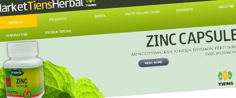 Jasa Pembuatan Website Bandung Murah  Jasa pembuatan website murah Bandung Company Profile Market tiens herbal