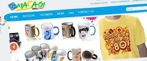 Jasa Pembuatan Website Bandung Murah  Jasa pembuatan website murah Bandung Company Profile Masagi Digi Print