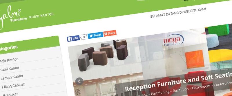Jasa Pembuatan Website Bandung Murah  Jasa pembuatan website murah Bandung Company Profile Mega Kursi Kantor