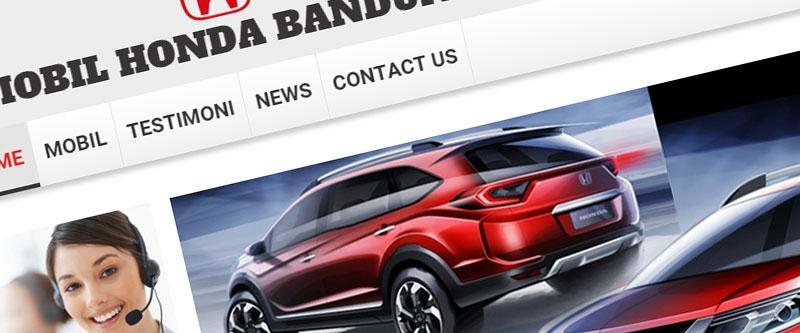 Jasa Pembuatan Website Bandung Murah  Jasa pembuatan website murah Bandung Company Profile Mobil Honda Bandung