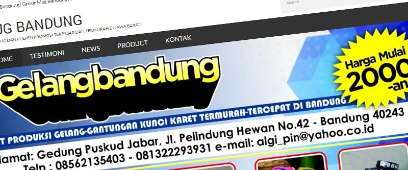 Jasa Pembuatan Website Bandung Murah  Jasa pembuatan website murah Bandung Company Profile Mug Bandung