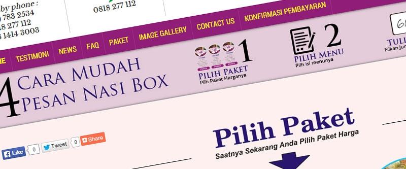 Jasa Pembuatan Website Bandung Murah  Jasa pembuatan website murah Bandung Company Profile Nasi Box Murah