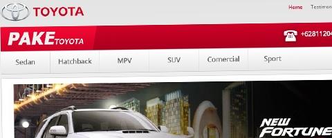 Jasa Pembuatan Website Bandung Murah  Jasa pembuatan website murah Bandung Company Profile Pake Toyota