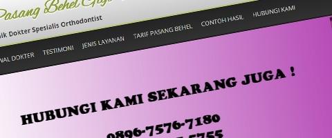 Jasa Pembuatan Website Bandung Murah  Jasa pembuatan website murah Bandung Company Profile Pasang Behel Gigi Murah
