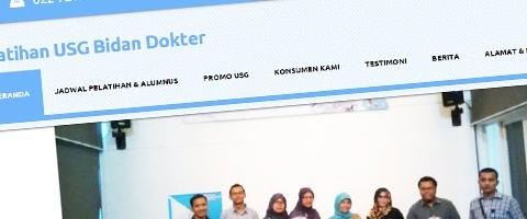 Jasa Pembuatan Website Bandung Murah  Jasa pembuatan website murah Bandung Company Profile Pelatihan USG Bidan Dokter