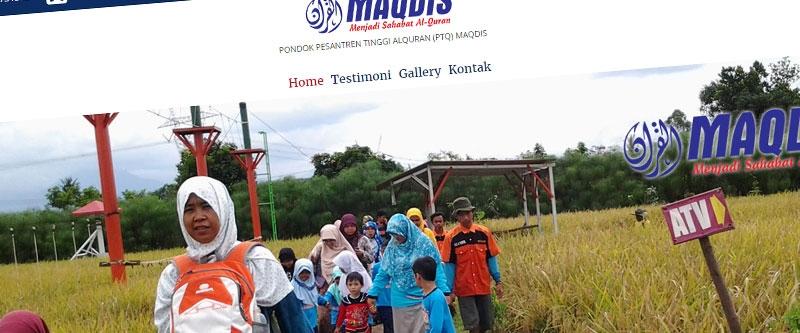 Jasa Pembuatan Website Bandung Murah  Jasa pembuatan website murah Bandung Company Profile Ponpes Maqdis