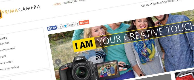 Jasa Pembuatan Website Bandung Murah  Jasa pembuatan website murah Bandung Company Profile Prima Camera