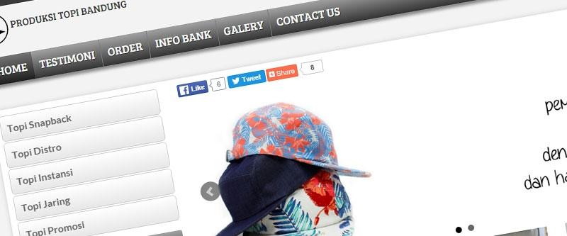 Jasa Pembuatan Website Bandung Murah  Jasa pembuatan website murah Bandung Company Profile Produksi Topi Bandung