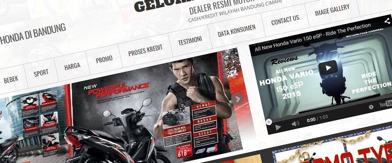 Jasa Pembuatan Website Bandung Murah  Jasa pembuatan website murah Bandung Company Profile Pusat Kredit Motor Honda Di Bandung