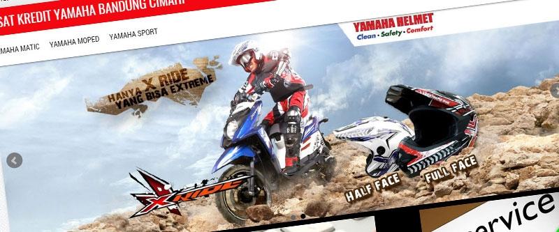 Jasa Pembuatan Website Bandung Murah  Jasa pembuatan website murah Bandung Company Profile Pusat Kredit Yamaha Bandung Cimahi