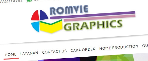 Jasa Pembuatan Website Bandung Murah  Jasa pembuatan website murah Bandung Company Profile Romvie Graphics