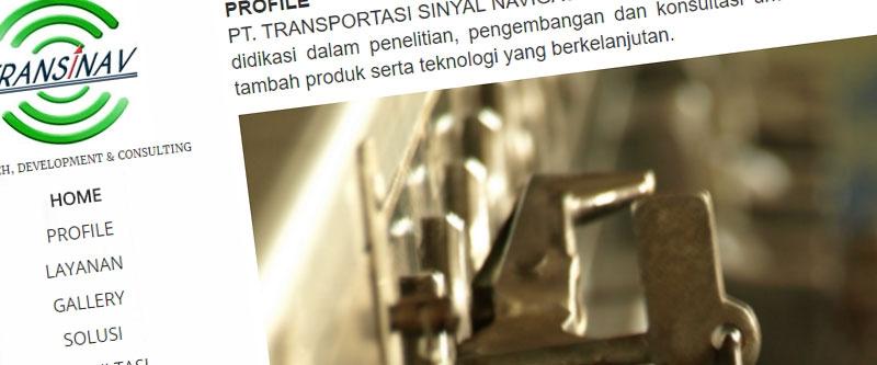 Jasa Pembuatan Website Bandung Murah  Jasa pembuatan website murah Bandung Company Profile Transinav