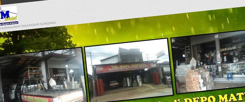 Jasa Pembuatan Website Bandung Murah Depo Matrial Jasa pembuatan website murah Bandung Katalog Produk Depo Matrial