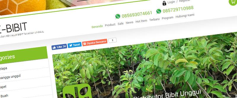 Jasa Pembuatan Website Bandung Murah e-bibit.com Jasa pembuatan website murah Bandung Toko Online e-bibit.com