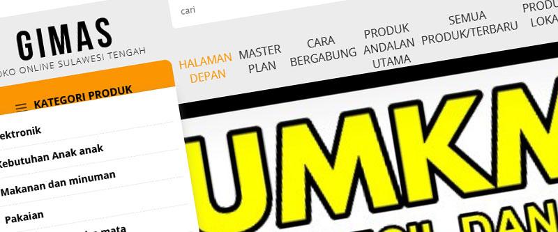 Jasa Pembuatan Website Bandung Murah Gimas Jasa pembuatan website murah Bandung Toko Online Gimas