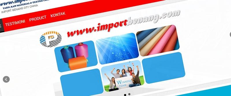 Jasa Pembuatan Website Bandung Murah Import Benang Jasa pembuatan website murah Bandung Company Profile Import Benang