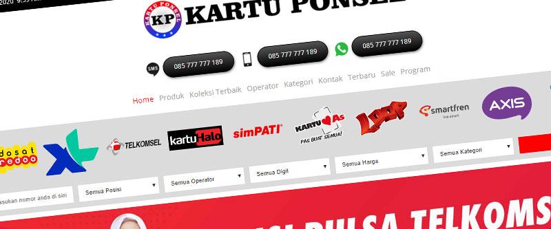 Jasa Pembuatan Website Bandung Murah kartuponsel.com Jasa pembuatan website murah Bandung Nomor Cantik kartuponsel.com