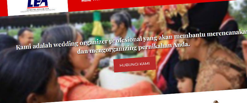 Jasa Pembuatan Website Bandung Murah leaweddingorganizerkaro.com Jasa pembuatan website murah Bandung Company Profile leaweddingorganizerkaro.com