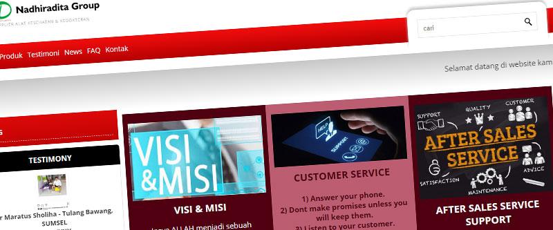 Jasa Pembuatan Website Bandung Murah nadhiraditagroup.com Jasa pembuatan website murah Bandung Katalog Produk nadhiraditagroup.com