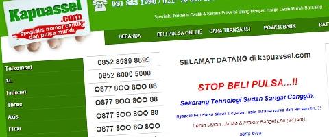 Jasa Pembuatan Website Bandung Murah  Jasa pembuatan website murah Bandung Nomor Cantik Kapuassel.com