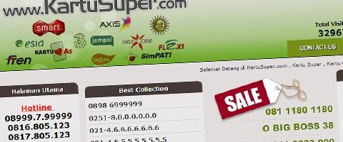 Jasa Pembuatan Website Bandung Murah  Jasa pembuatan website murah Bandung Nomor Cantik Kartusuper.com