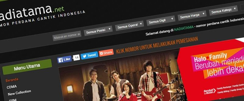 Jasa Pembuatan Website Bandung Murah  Jasa pembuatan website murah Bandung Nomor Cantik Nadiatama