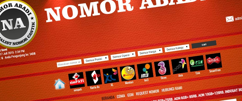Jasa Pembuatan Website Bandung Murah  Jasa pembuatan website murah Bandung Nomor Cantik Nomor Abadi