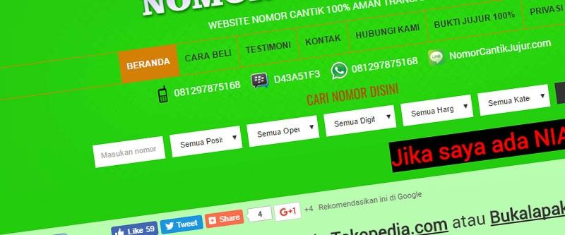 Jasa Pembuatan Website Bandung Murah  Jasa pembuatan website murah Bandung Nomor Cantik Nomor Cantik Jujur