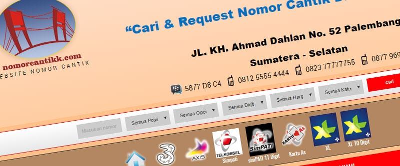 Jasa Pembuatan Website Bandung Murah  Jasa pembuatan website murah Bandung Nomor Cantik Nomor Cantik K