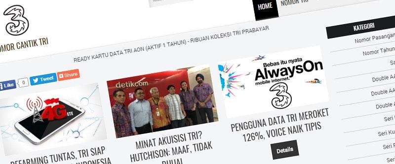 Jasa Pembuatan Website Bandung Murah  Jasa pembuatan website murah Bandung Nomor Cantik Nomor Cantik Tri