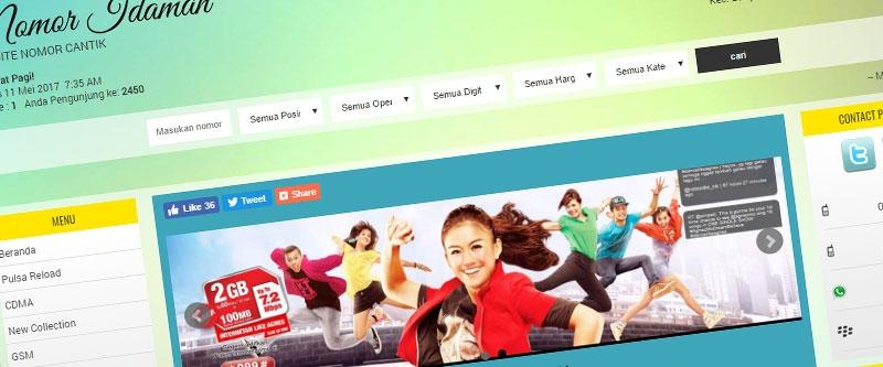 Jasa Pembuatan Website Bandung Murah  Jasa pembuatan website murah Bandung Nomor Cantik Nomor Idaman