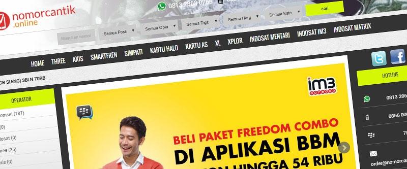 Jasa Pembuatan Website Bandung Murah  Jasa pembuatan website murah Bandung Nomor Cantik nomorcantik.online
