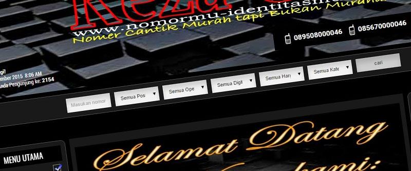 Jasa Pembuatan Website Bandung Murah  Jasa pembuatan website murah Bandung Nomor Cantik Nomormu Identitasmu